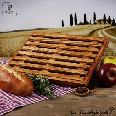 Brotschneidebrett mit Krümelrost, flach