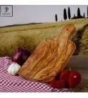 Planche a decouper bois d'olivier, rectangulaire, avec manche
