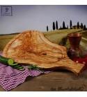 Plateau de service, avec manche intégrale, parfait pour servir le bifteck, accompagné d'une rainure de jus