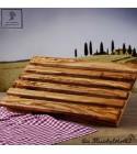 Planche à découper pour pain, avec une boite à miette