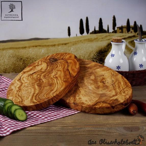 Planche à découpé Bois d'olivier, ovale