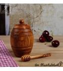 Petit pot de miel+ cuillère en bois d'olivier