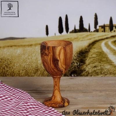 tasses de vin Bois d'olivier, look moderne et élégant